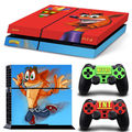 Crash Bandicoot  Decal Skin Sticker For Sony Playstation 4 For PS4 Console 2 Controllers