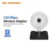Comfast CF-WU770NV2 alta potencia del controlador libre Radar adaptador inalámbrico 8188GU USB Wifi recibir tarjeta para PC portátil Wifi adaptador wi fi