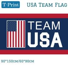 Team USA Flag 90x150cm Polyester Digital Print Banner With 2 Grommets 3x5ft For World Cup огромный российский флаг 3x5ft 90x150cm из россии
