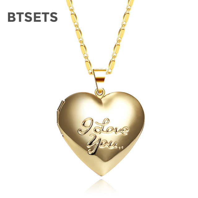 BTSETS Women Long Necklaces Living Memory Picture Photo Frame Heart ...