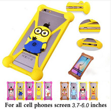 Cute Cartoon Silicone Universal Cell Phone Holster Cases Fundas For Samsung Glaxy S7  S7 Plus S7 Edge Case Silicon Coque Cover