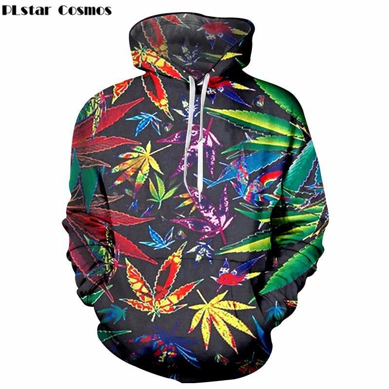 PLstar Cosmos Fashion Men 39 s 3D Hoodie Sweatshirt Weed Flower print Hoodies Long Sleeve Top Sweatshirts plus size 4XL 5XL in Hoodies amp Sweatshirts from Men 39 s Clothing