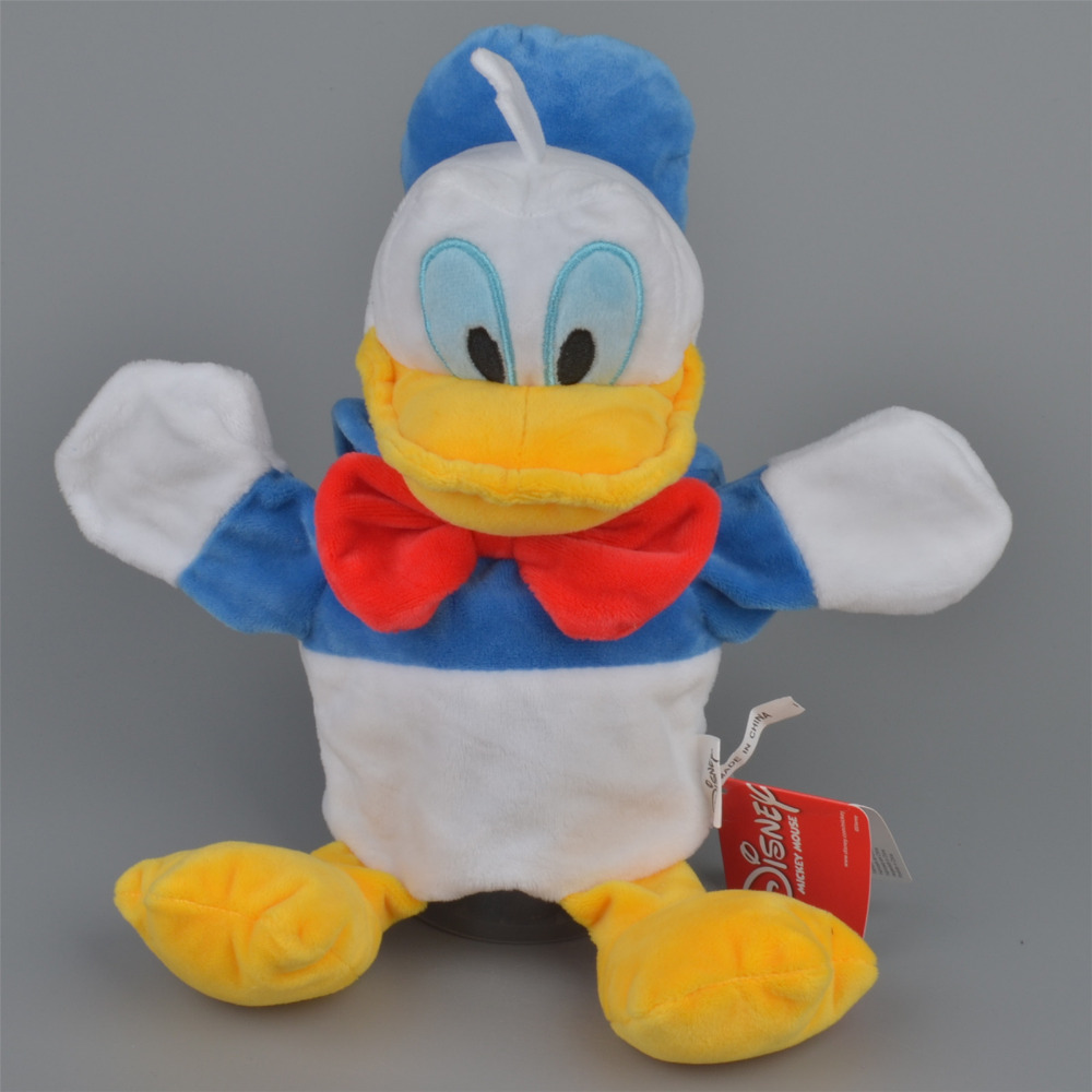 30cm Donald Duck Plush Hand Puppet, Baby Kids Plush Toy Doll Gift Free Shipping