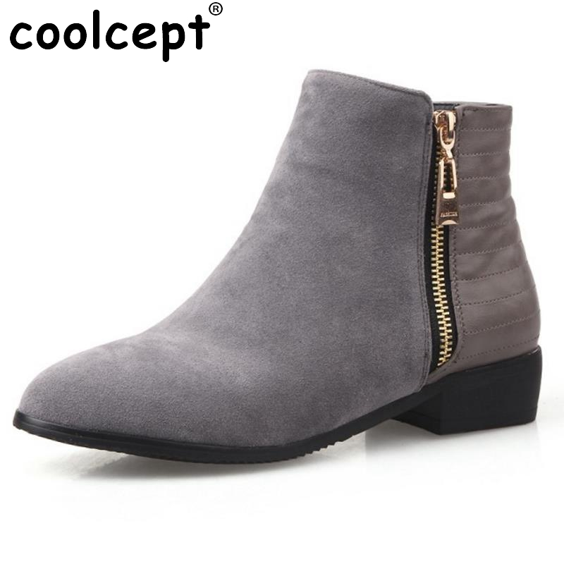 Fashion Ankle Boots Women Hot Skid-Proof Chunky Heels Round Toe Shoes Woman Autumn Winter Botas Woman Chelsea Boot Size 33-43 enmayla ankle boots for women low heels autumn and winter boots shoes woman large size 34 43 round toe motorcycle boots