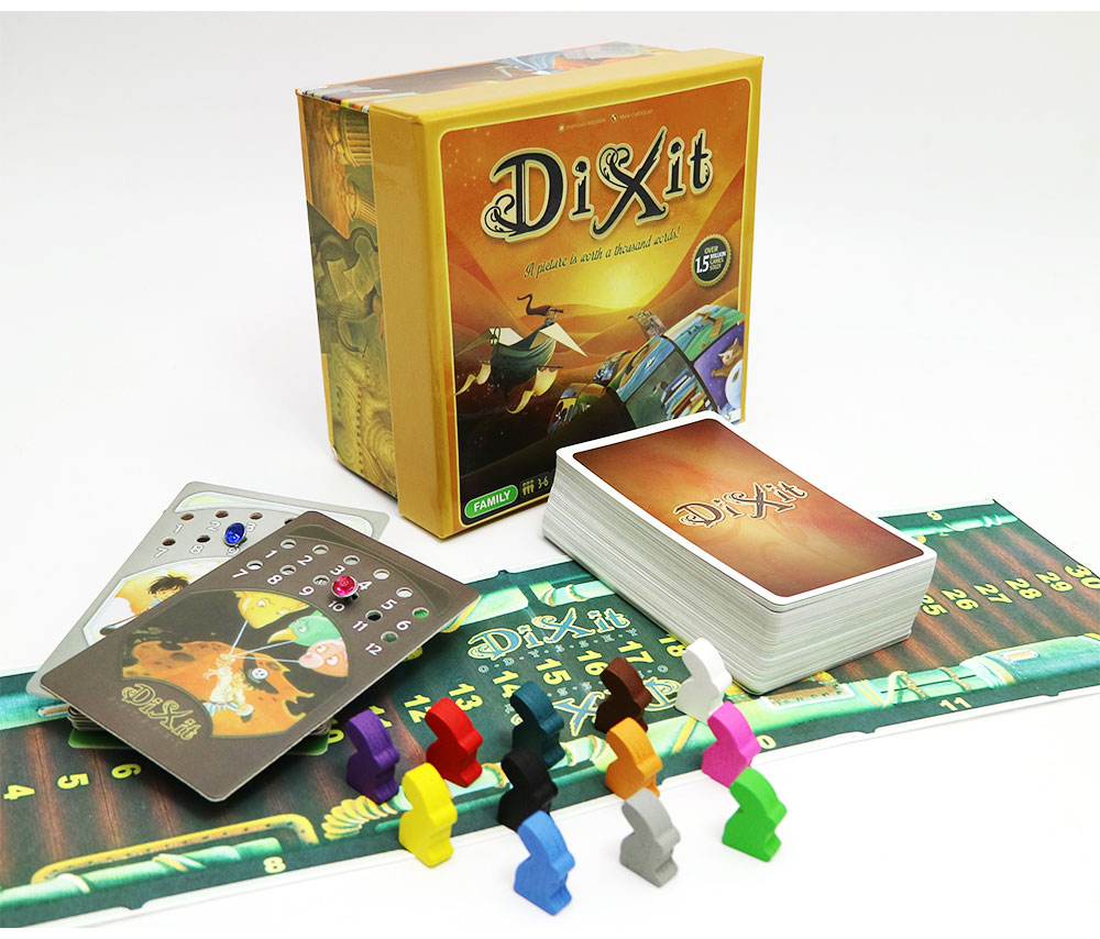 2018 New Dixit 1 2 3 Board Game English Russian Rules For Home Party Family Fun