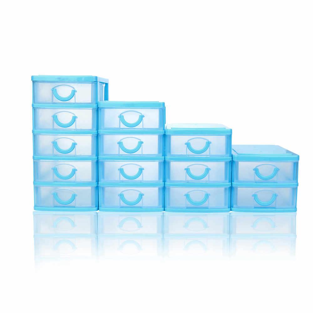 Durevole di Plastica Mini Desktop di Articoli Vari Cassetto Caso di Piccoli Oggetti di Plastica Scatola di Immagazzinaggio Cosmetici Cassetto Smistamento Bagagli Organizer Hot ^ 40