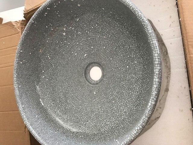 bagno rotonda lavabo in ceramica bacino da appoggio lavata guardaroba crepa vetri porcellana vessel sink lulu001