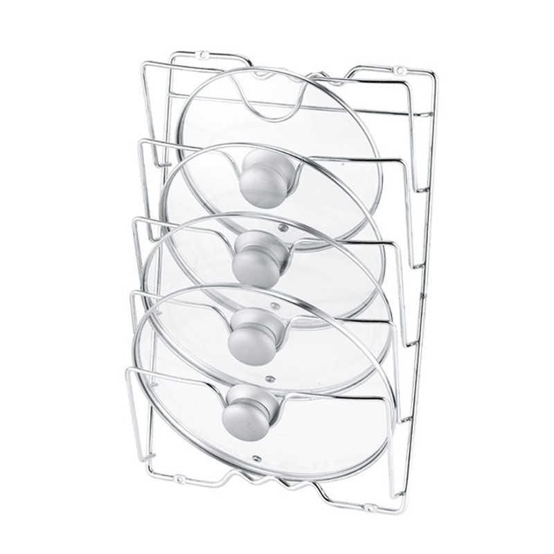Pan Lid Storage Rack Wall Mount Pot Cover Organizer Holder Kitchen Accessories Rack de almacenamiento multicapa RT99