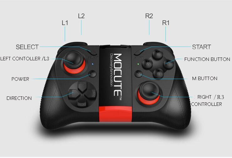 MOCUTE 050 встроенный аккумулятор геймпад джойстик Bluetooth пульт дистанционного управления для PUGB мобильных ПК iso Android iphone