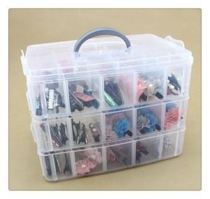 Image 1 - 3 طبقات 30 شبكة صندوق تخزين قابل للإزالة في صندوق تخزين مغطى الملك الجوارب لعبة ليغو صندوق تخزين من البلاستيك