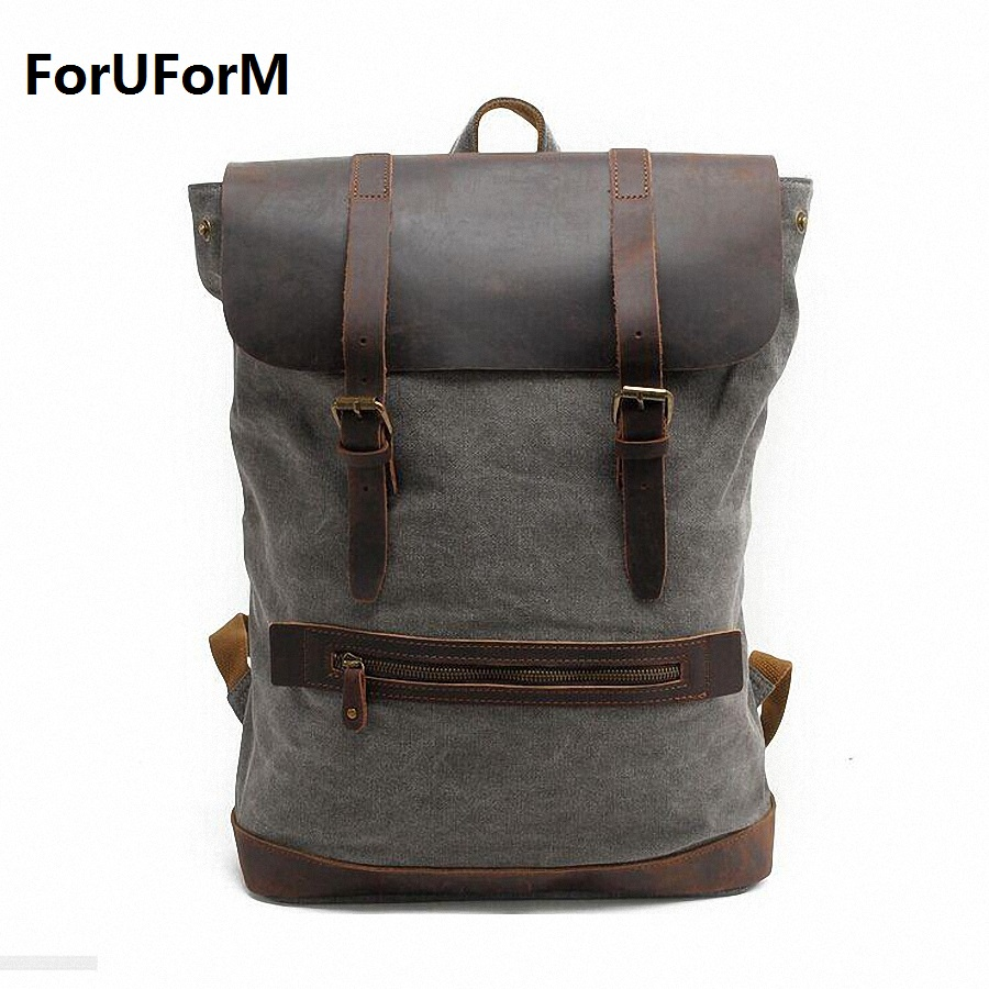 Rucksack Men's Canvas Backpack Leisure Travel Bag  Casual Backpack Vintage Fashion Men's Laptop Backpacks School Bags LI-1380 new fashion vintage backpack canvas backpack teens leisure travel school bags laptop computers unisex backpacks men backpack