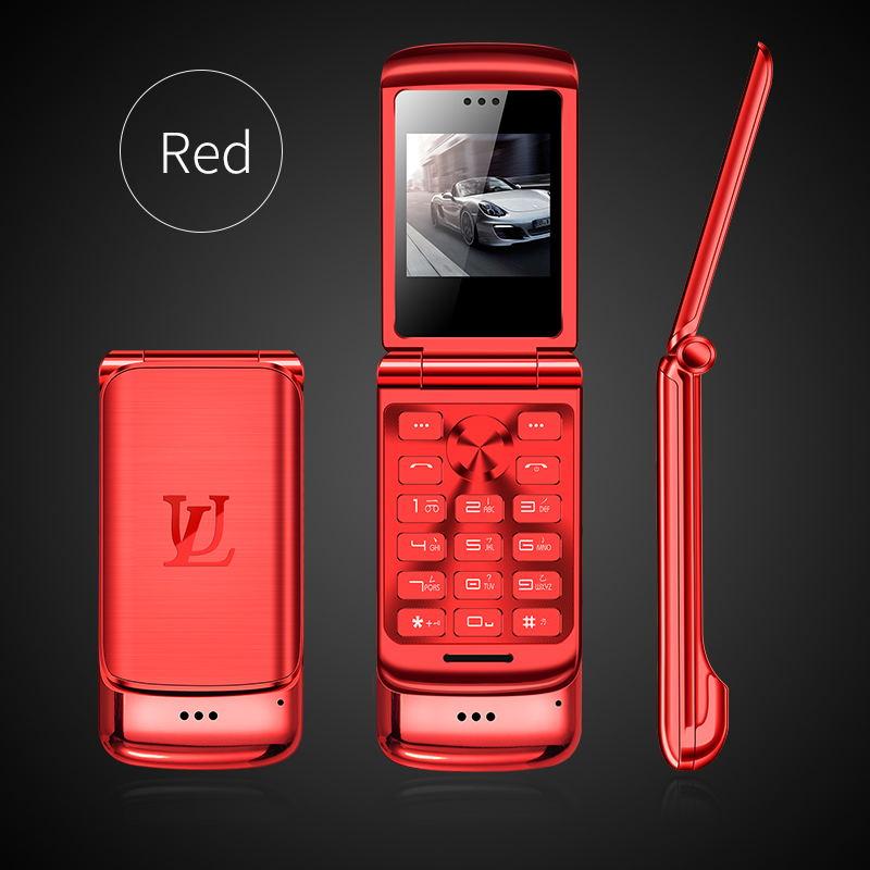 V9 Металлический Мини Мужской Бизнес Флип Мобильный двойной карты маленький телефон Личность Ультра-Тонкий Карманный запас - Цвет: red