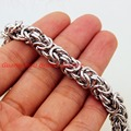 Charm 8mm 316L Stainless Steel Necklaces Bracelet Byzantine Chain Mens Jewelry Top Fashion Cool Gift, Wholesale Or Retail 7-40""