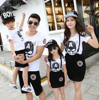Summer Family Clothing Sets New Arrival Father Son Outfits Thin Filha Da Mae Short Sleeve Mom
