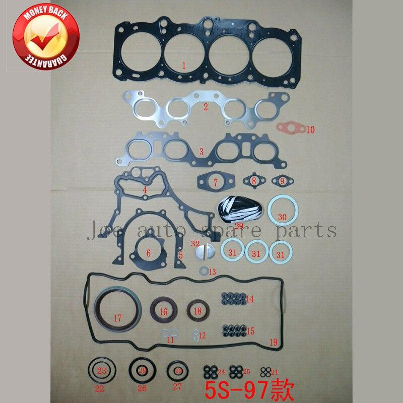 5S 5sfe Двигатели для автомобиля полный комплект прокладок набор для toyota celica/Camry 2.2l 2164cc 1993-2002 50177600 04111 -74640 04111-74651