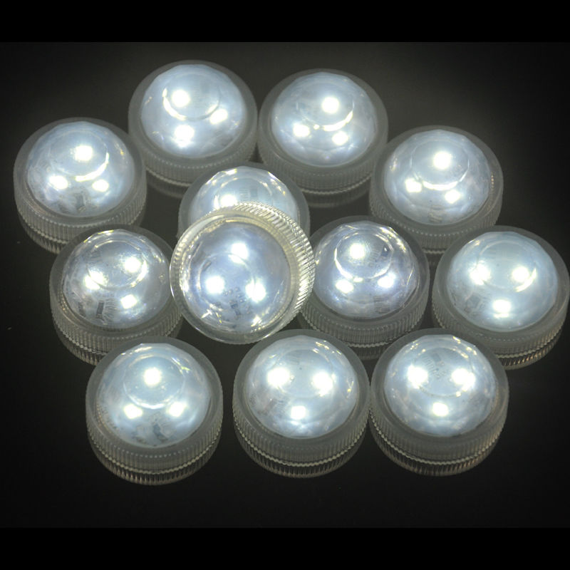 10pcs*Floralyte Submersible led base light Candle Tea light waterproof wedding party decoration holiday lights