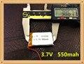 (1 unids/lote) envío libre 3.7 v batería de polímero de litio 612338 062238 mp3 diy altavoz bluetooth millet 550 mah