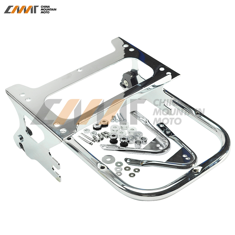 Tour Pak Pack Luggage Rack & Docking Hardware Kits case for Harley Touring 1997-2008 trunk luggage rack with built in light for harley davidson hd air wing tour pak