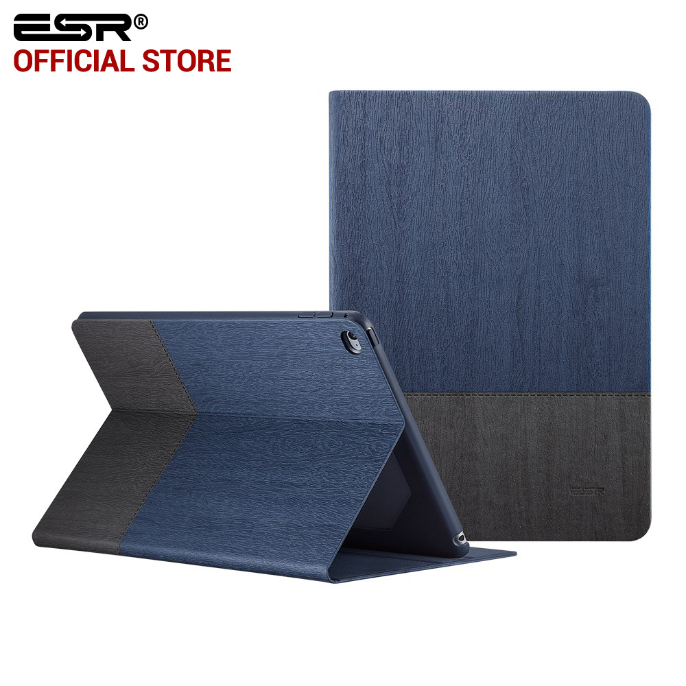 Case for iPad Air 2, ESR PU Leather Smart Cover Folio Case Stand with Auto Sleep/ Wake Function ecology Cover for iPad 6/ Air 2 ctrinews flip case for ipad air 2 smart stand pu leather case for ipad air 2 tablet protective case wake up sleep cover coque