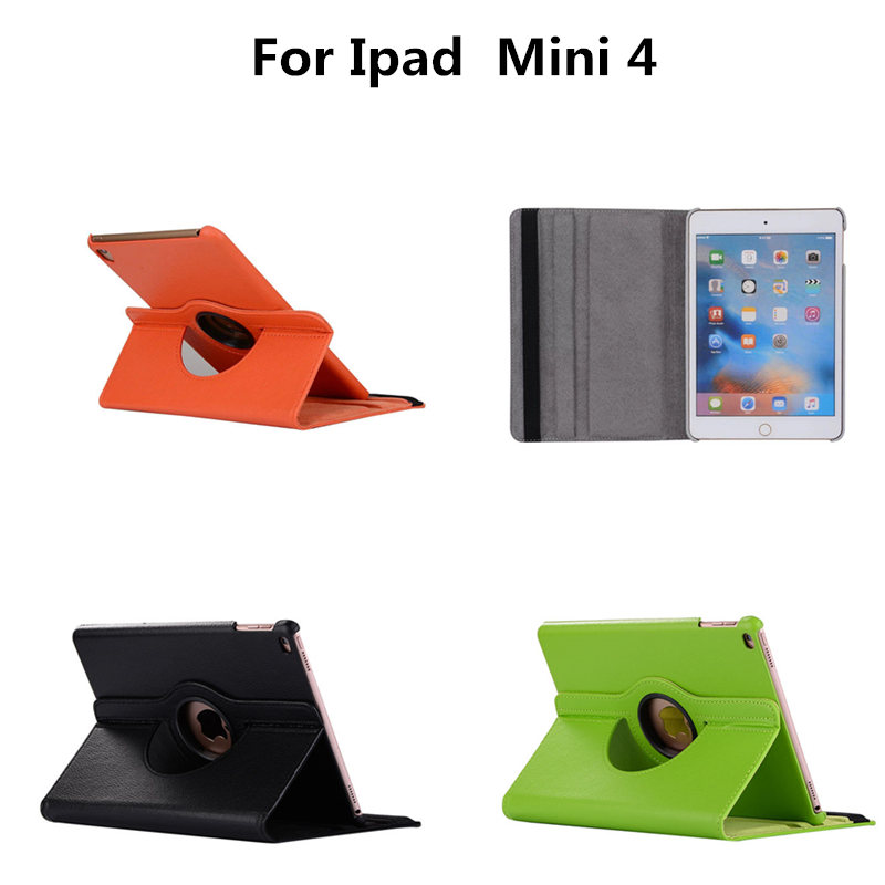 Stand case for iPad Mini4 7.9 inch Tablet Fundas 360 Rotation PU Leather Luxury case for Apple ipad mini 4 Smart flip Cover