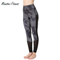 Monster Camouflage Yoga Pants Gym Sports Clothing Women Yoga Leggings Fitness Capri Sportswear Tights Jogger Running