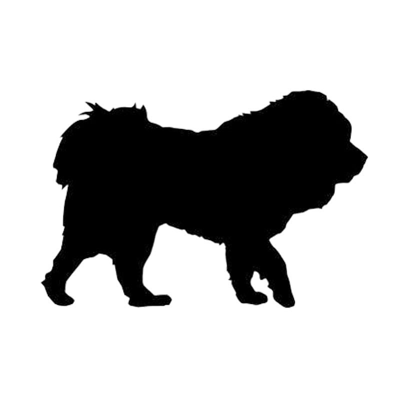 Купи 12.7*8.5CM Tibetan Mastiff Dog Funny Window Decoration Animal Car Sticker Classic Motorcycle Decals C6-1733 на алиэкспресс со скидкой