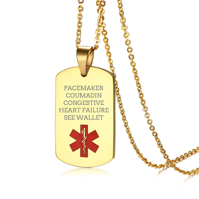 Free Engraved Stainless Steel Medical Alert ID Dog Tag ...