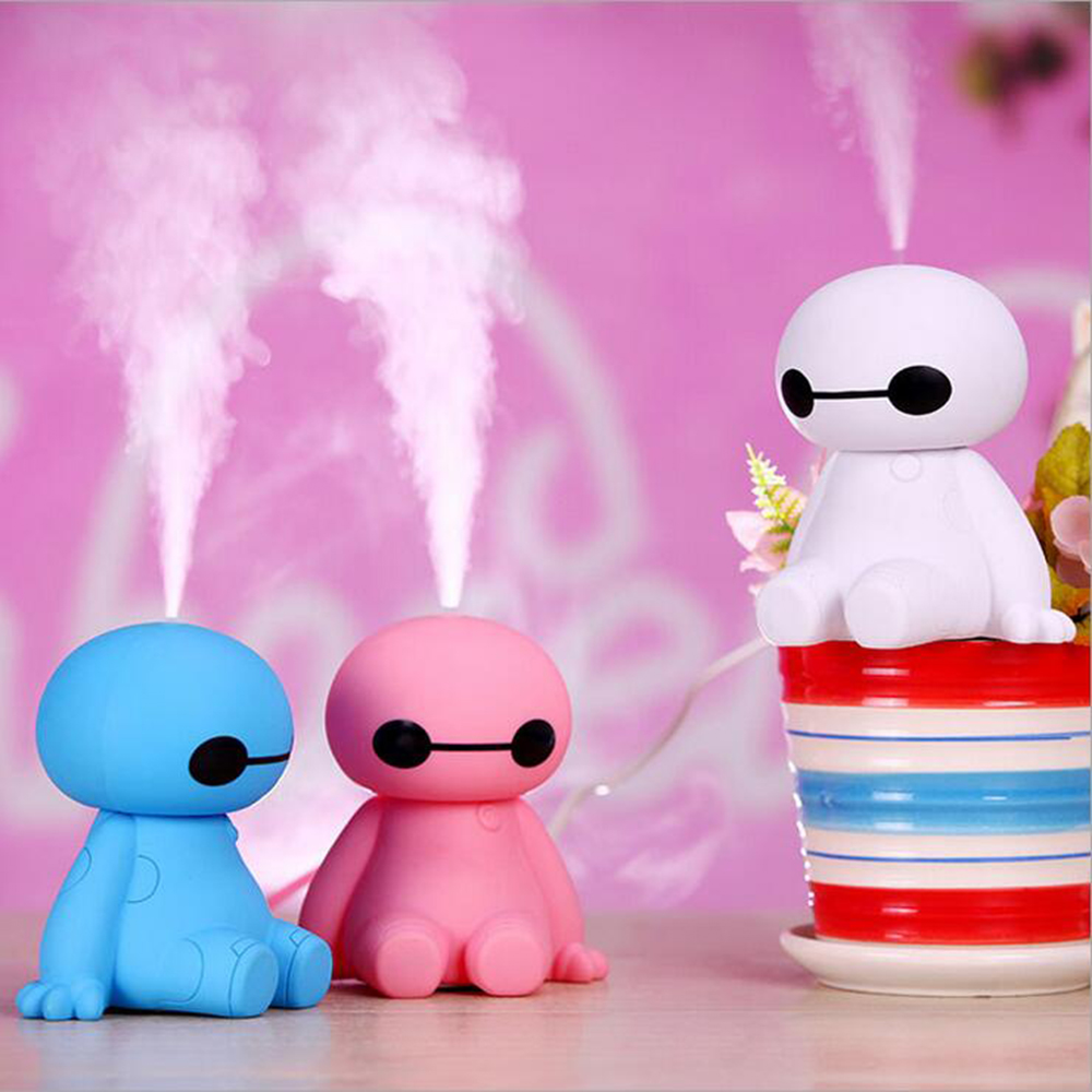 GRTCO 200ML USB Big Hero Baymax Dry Protect Ultrasonic Essential Olie Aroma Diffuser Luft Luftfugtighed Mist Maker til Home Office