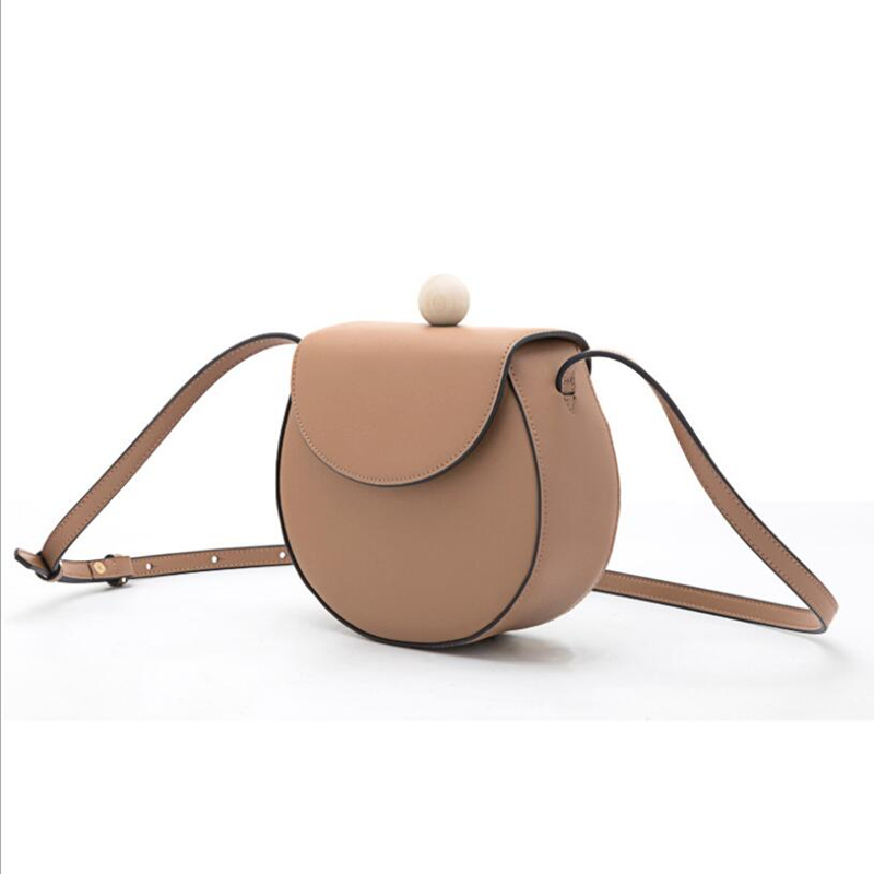Fashion simplesmll round bag ladies designer handbag high quality leather leather large capacity single shoulder cross bag qq216