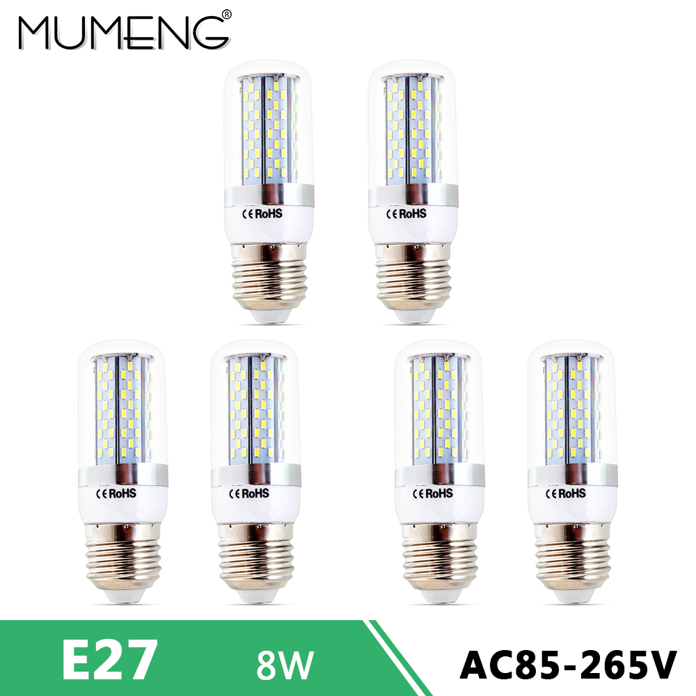 mumeng E27 E14 led Corn Bulb 8W led Light 120pcs SMD3014 Ampoule led 110V 220V led Energy Saving Ampoule for home chandelier 220v home lighting colorful led bulb ampoule e27 3w energy saving light red orange yellow green blue milk pink lamp smd2835
