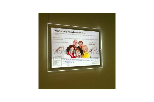 New invention led crystal light panel magic display,a0 slim lightbox ...