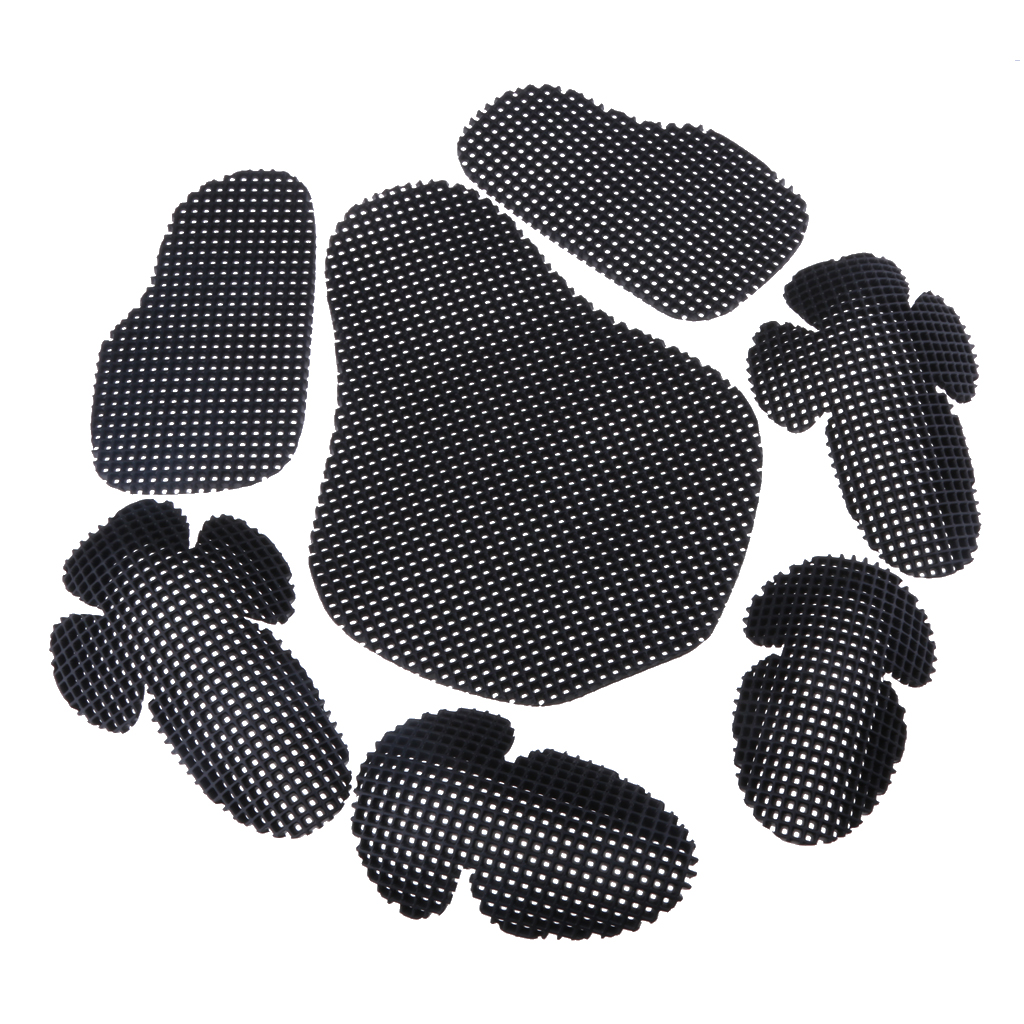 Motorcycle Elbow Back Shoulder Protection Pads Body Protector Racing Protective Gears Black