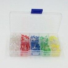 300PCS/LOT  LED 3mm 5mm LED light-emitting diode package kit Arduino DIY element