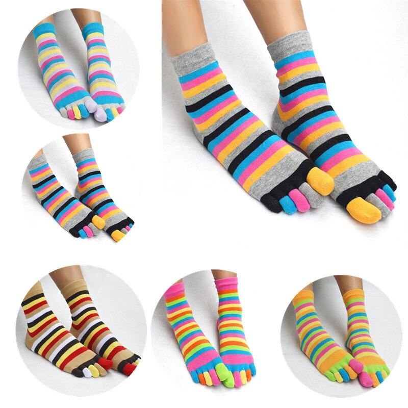 1 * Pairs Großhandel Fünf Finger Toe Socken Mode Socken Bunte Frauen Mädchen Farbe Streifen Fünf Finger Toe Socken -gsm Drop Verschiffen Um Eine Hohe Bewunderung Zu Gewinnen Und Wird Im In- Und Ausland Weithin Vertraut.