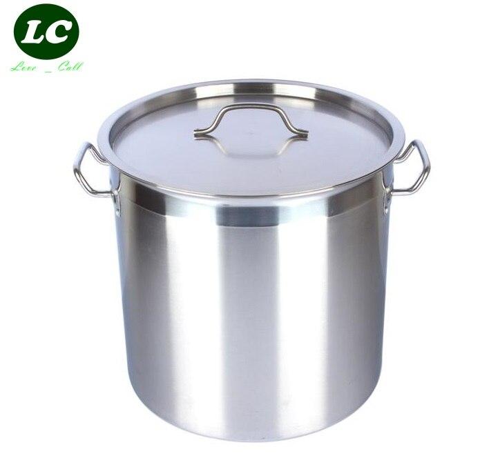 Livraison gratuite 170 litre seau à eau grand baril en acier inoxydable pot de mèche 60 cm