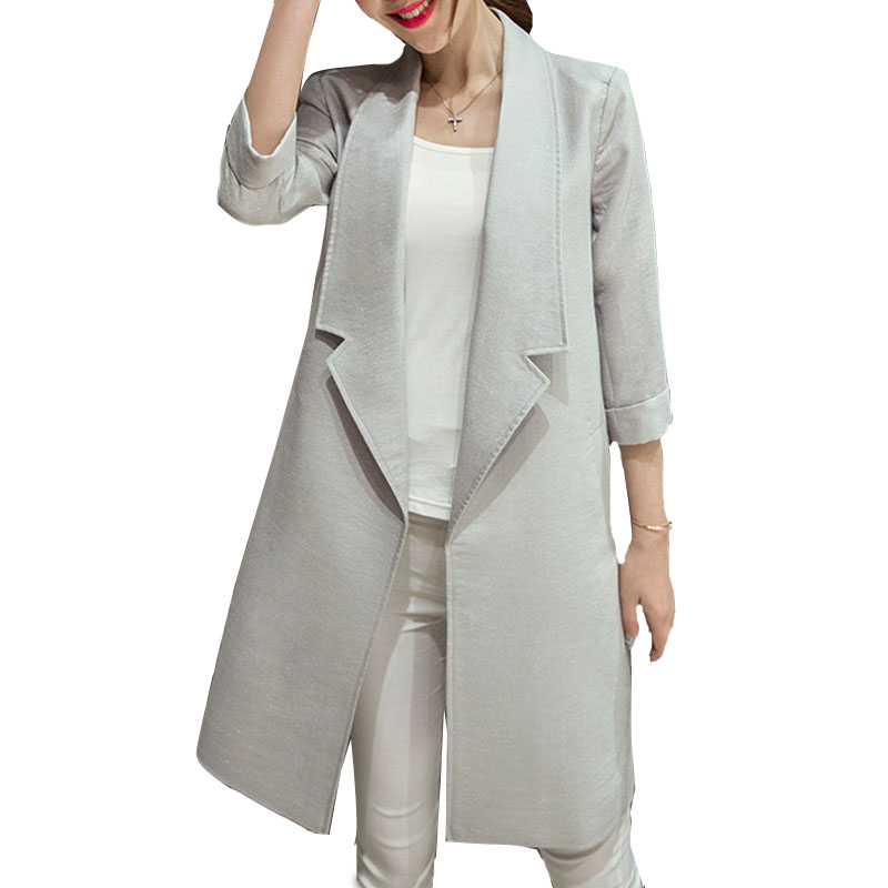 Womens Long Blazer Jacket