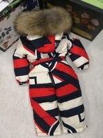2018 зимняя куртка с капюшоном и натуральным мехом, детские куртки, детский комбинезон, зимний костюм для девочек с цветочным принтом, Пуховый
