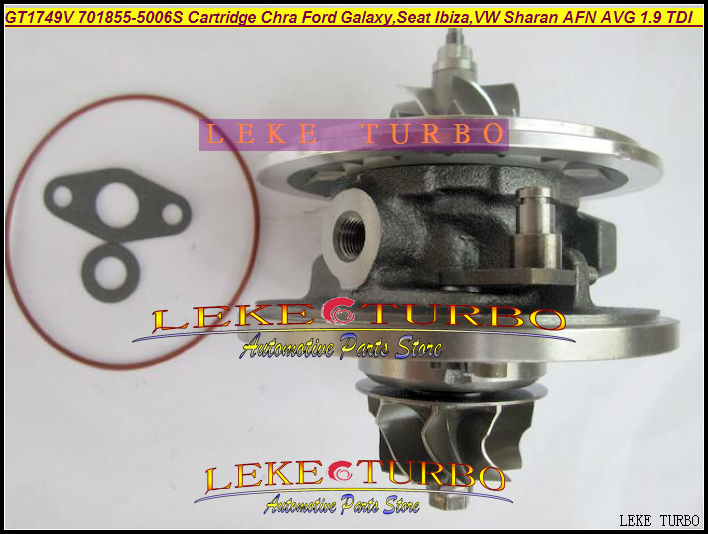 Turbo Cartridge Chra Core GT1749V 701855 701855-5006S 701855-0004 For Ford Galaxy Ibiza For Volkswagen VW Sharan AFN AVG 1.9L TD turbo wastegate actuator gt1749v 454231 454231 5007s 028145702h for audi a4 b5 b6 a6 vw passat b5 avb bke ahh afn avg 1 9l tdi