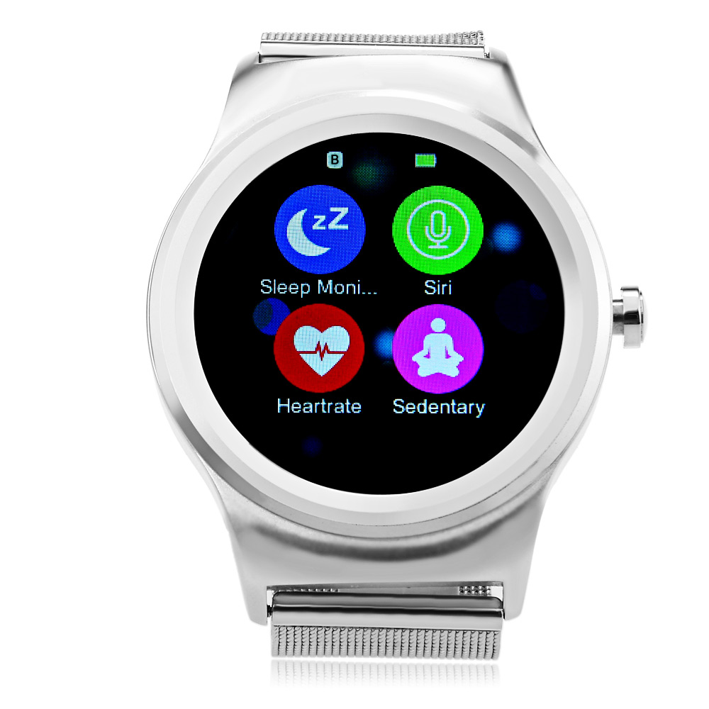 SMAWATCH SMA-R montre intelligente écran tactile moniteur de fréquence cardiaque Android double Bluetooth SmartWatch IP54 étanche caméra à distance