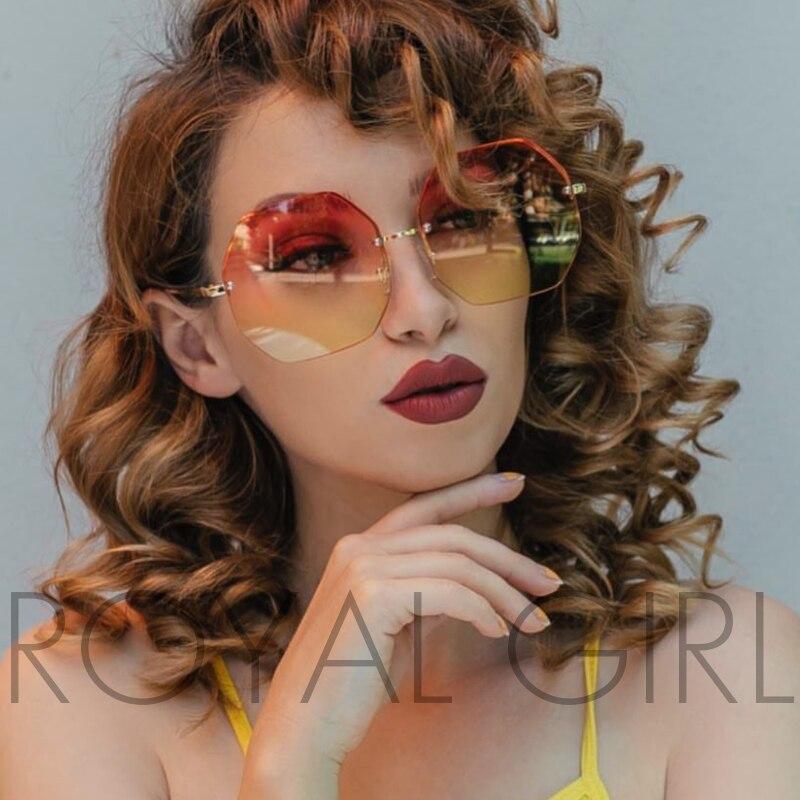 Veshjet me syze dielli elegant Rimless Gratë e tepërta Shape Sheshi - Aksesorë veshjesh