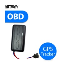 T6124 obd car GPS tracker Web based Real-time tracking and replay or locate via SMS sim card gprs gsm