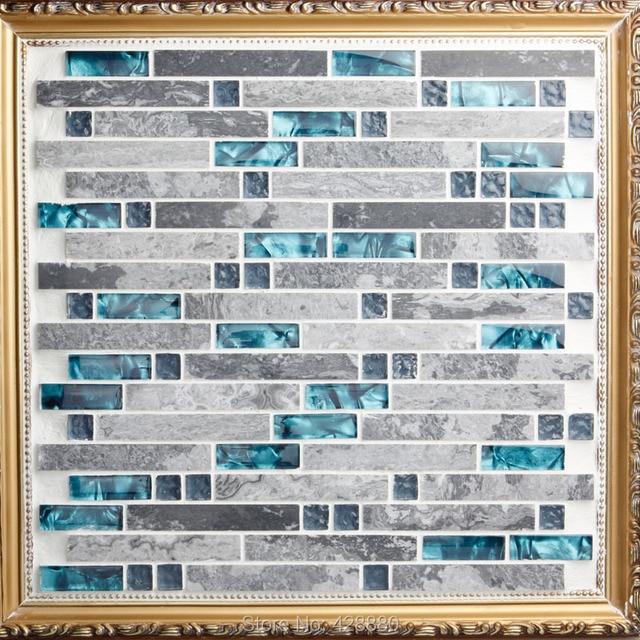 Vidrio azulejos Backsplash cocina de diseño colorido cristal y ...