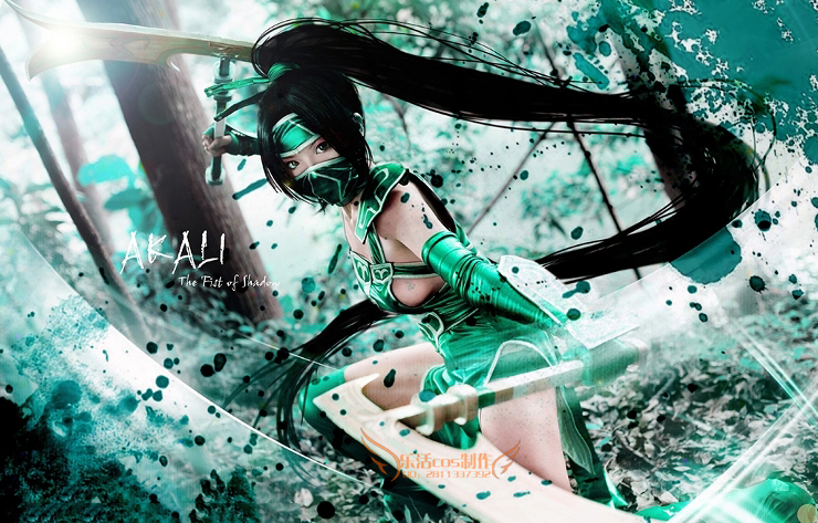 League Of Lol Akali Classic Sexy Cosplay Akali Costume Custom Size Hademade Cosplay Clothing With Weapon Wig 4
