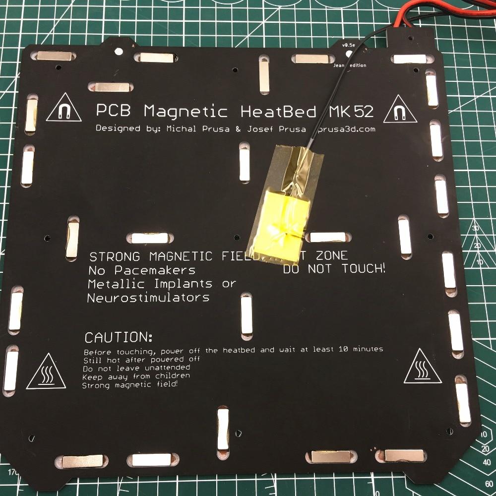 24 v MK3 Magnétique Heatbed MK52 PCB 3mm D'épaisseur pour le BRICOLAGE Prusa MK3 3D Imprimante Foyer avec Câble