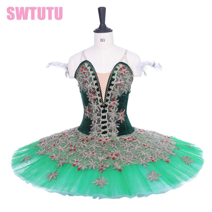 3e9df4bd88da Free shipping! women sugar plum fairy stage tutu costumes Adult  Professional Ballet Tutu Green Gold
