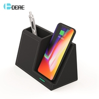 DCAE 10W Fast Wireless Charger Desk Organizer Qi Charging Station Stand For iPhone XS XR X 8 Samsung S10 S9 S8 Pencil Pen Holder
