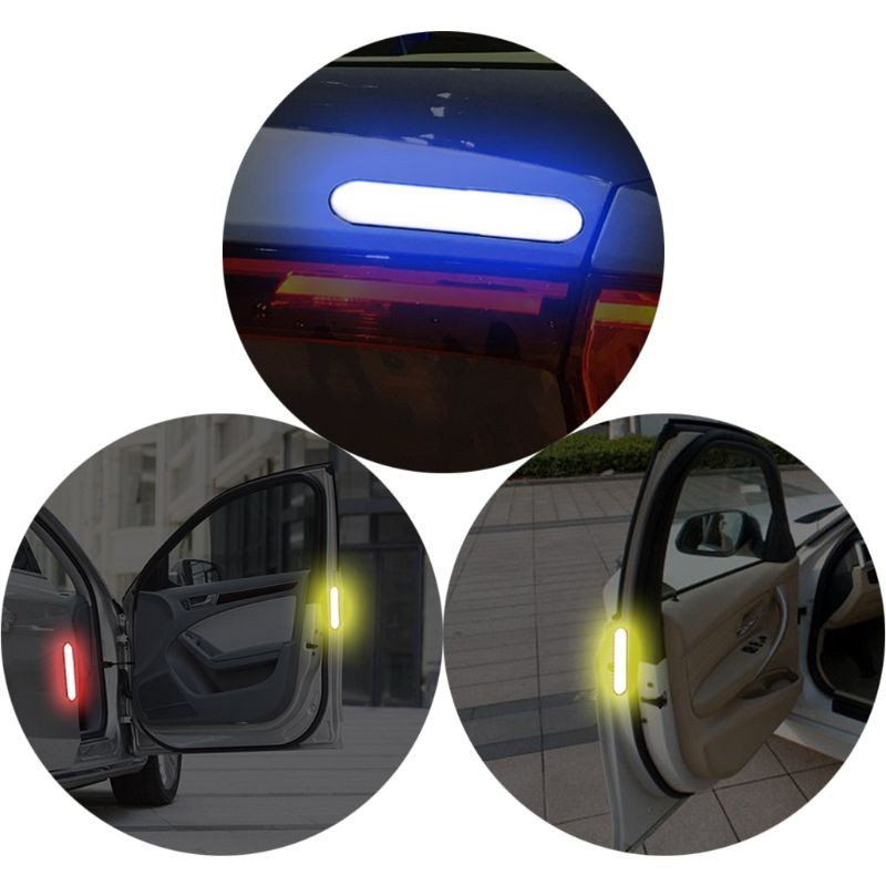 New 2 Pcs Car Door Sticker Decal Warning Tape Car Reflective Stickers Reflective Strips Car styling 4 Colors Safety Mark Decor in Reflective Strips from Automobiles Motorcycles