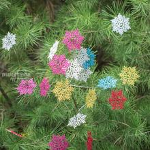 6 Colors 12Pcs New Glitter Snowflake Christmas Ornaments Xmas Tree Hanging accessories