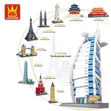 Wange London Paris Model Compatible LeSet Technic City Architecture Building Blocks Bricks Educational Toys Birthdays Gifts