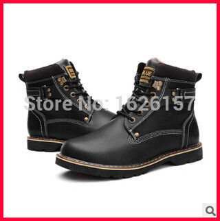 359203e367 Best Selling Men Riding Boots Ankle Shoes Men Motorcycle Boots 3 Colors  Botas Mujer Mens Outdoor Lace-up Leather Shoes 39-44